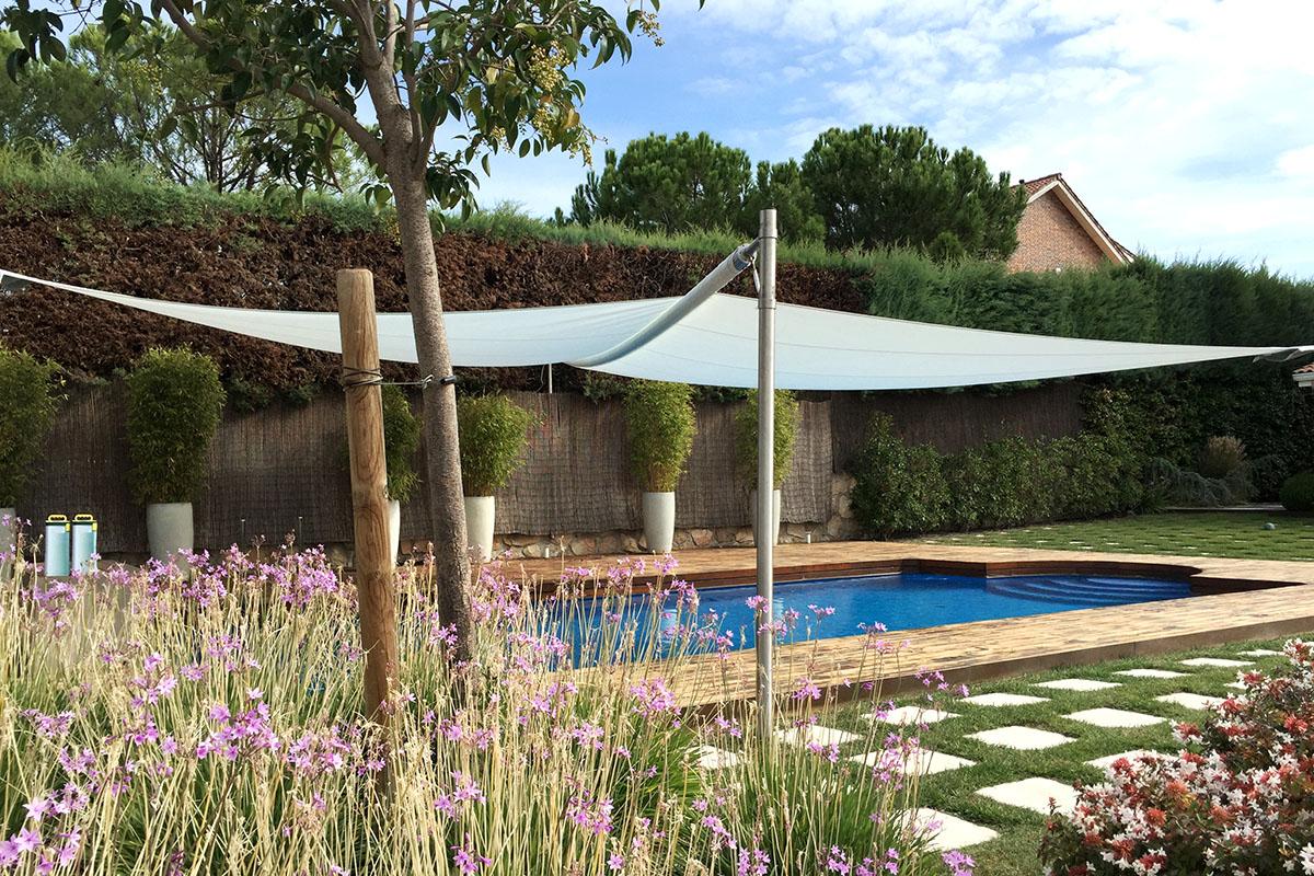 Toldos vela piscina. Madrid. Ventux Exclusive