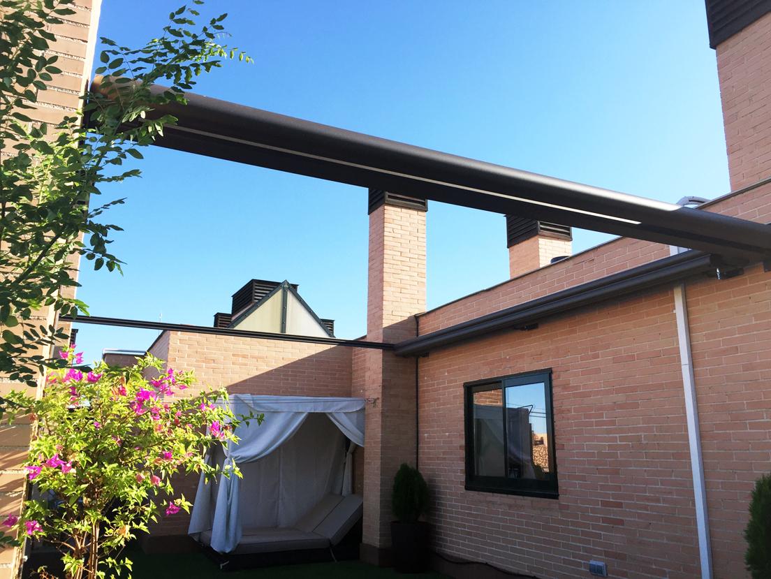 Toldos para patios exteriores ideas de disenos - Toldos para porches ...