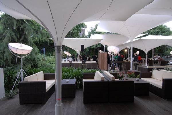Sombrillas ideales para una terraza de un bar o restaurante